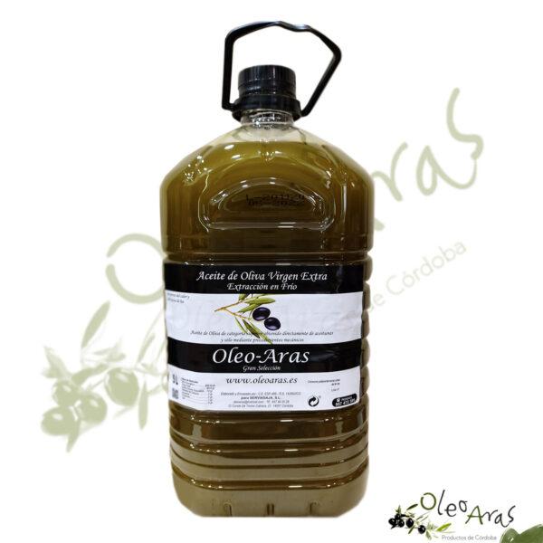 Aceite virgen extra - OleoAras - Extracción en frío - Sin filtrar - 5L
