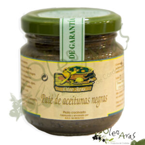 Oleo Aras - Paté de Aceitunas negras - 130grs.