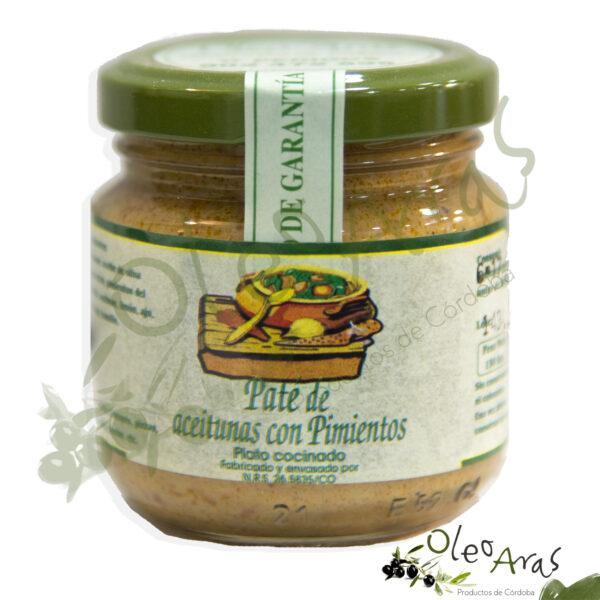 Oleo Aras - Paté de Aceitunas con Pimientos - 130grs.